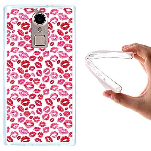 WoowCase Doogee F5 Hülle, Handyhülle Silikon für [ Doogee F5 ] Lippen Küsse Liebe Handytasche Handy Cover Case Schutzhülle Flexible TPU - Transparent