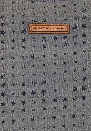 Naketano Male Sweatshirt Tinte Aufm Füller III Heritage Dark Ash Melange