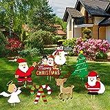 JoyTplay 8 Piezas Decoración para Navidad,Merry Christmas Yard Sign,Decoraciones de Patio...