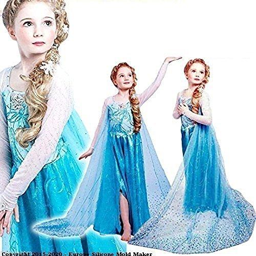 97d5ebd03abc TG-Taglia M - 4-5 ANNI - Costume elsa frozen famosi cartoni animati damina  nuovo. Frozen carnevale