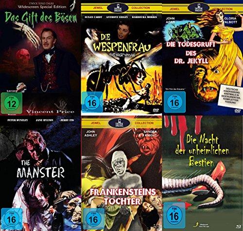 Mumien Monstren Mutationen Collection - Das Gift des Bösen + Die Wespenfrau + Die Todesgruft des Dr. Jekyll + The Manster + Frankensteins Tochter + Die Nacht der unheimlichen Bestien 6 DVD Edition