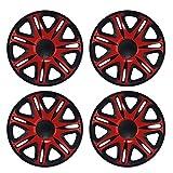 14 Zoll Radkappen NASCAR (Schwarz/Rot) passend für fast alle Fahrzeugtypen