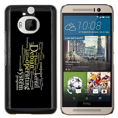 Stuss Case / Premio Sottile Slim Cassa Custodia Case Bandiera Cover Armor PC Aluminium - Messaggio profonda - HTC One M9Plus M9+ M9 Plus