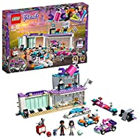 LEGO 41351 Friends Heartlake Creative Tuning Shop with Rotating Showroom, Emma and Dean Mini Dolls, Racing Toy Cars Set for Kids