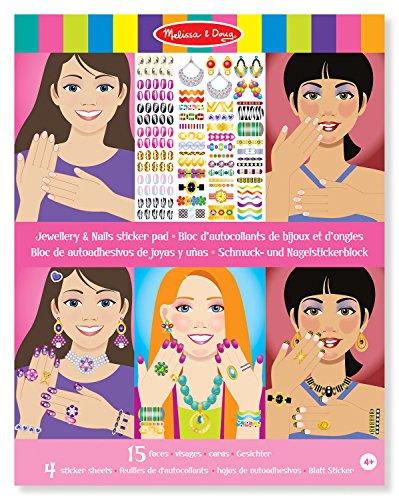 Melissa & Doug Stickerblock - Schmuck und Fingernägel (360 Sticker)