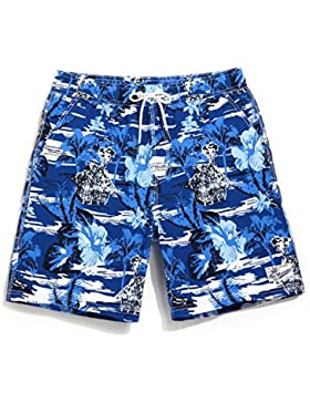 HAIYOUVK Quick Dry Beach Pants Male Large Size Loose Flat Swimming Trunks Vacation Flat Male Swimming Trunks Hot...
