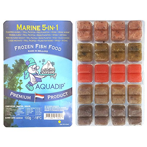 3 x marine 5 in 1 frozen fish foods 100g blisters for Best frozen fish to buy at grocery store