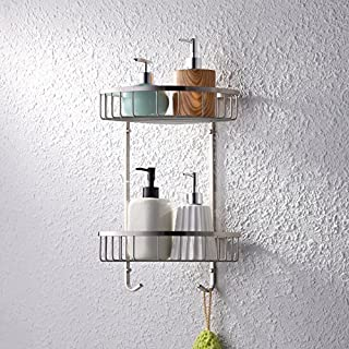 KES A2123B-2 Bathroom Triangular Tub and Shower Caddy 2-Tier Wall Mount, Brushed Finish, SUS304 Stainless Steel