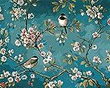 CaptainCrafts Nouvelle Peinture par numéros 16x20 pour Les Adultes, Enfants Toile - Magpie Amour Fleurs, Deux Oiseaux (sans Cadre)
