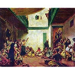 Das Museum Outlet–Jüdische Hochzeit (nach Delacroix) von Renoir, gespannte Leinwand Galerie verpackt. 147,3x 198,1cm