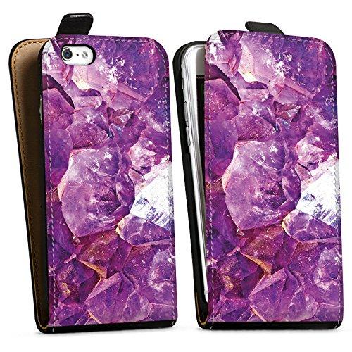 Apple iPhone X Silikon Hülle Case Schutzhülle Kristall Edel Muster Downflip Tasche schwarz