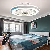 HYKISS LED Ventilateur De Plafond Dimmable Invisible Plafonnier Ventilateur Moderne Vitesse du Vent Réglable Ventilateur De L