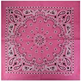 12er Pack Bandanas mit exclusivem Paisley Muster in rosa