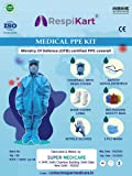 RespiKart® PPE kit Universal size disposable breathable fabric - 70 GSM (White)