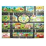Bggie Children Play Mats House Traffic Road Signs Car Model Parking City Scene Map