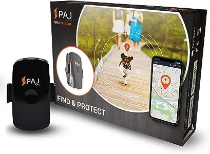 PAJ GPS Pet Finder Traceur GPS Mini protège Les Chiens et Les Chats Étanche Environ 2 Jours d'autonomie (3 Jours en Mode Veille)
