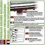 Zink Dachrinnen/ Regenrinnen Set | Satteldach (2 Dachseiten) | in Titanzink/ Verzinkt/ Anthrazit! Ideal für Gartenhaus oder Blockhaus. (Komplettes Set bis 5.10 m [Type 110], Verzinkt) Test