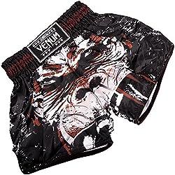 Venum Gorilla Pantalones Cortos de Muay Thai, Hombre, Negro, S