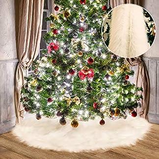 Tatuo-Weie-Kunstpelz-Weihnachtsbaum-Rock-Schnee-Baum-Rcke-fr-Weihnachtsfeiertag-Dekorationen