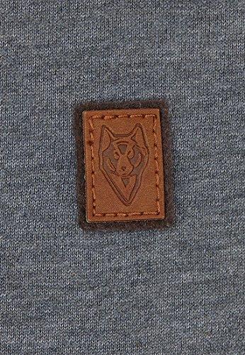 Naketano Male Sweatshirt Asgardian VI Heritage Dark Ash Melange
