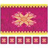 Eighty 8 - Polypropylene Frosted Dining Table/Kitchen Placemats/Table Mats With Coasters - Set Of 12 Pcs (Multicolour)