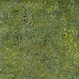 Fabric Freedom Salbei Grün Flow Design 100% Baumwolle Bali Batik Tie Dye Muster Stoff für Patchwork, Quilten &,–(Preis Pro/Quarter Meter)