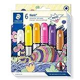 Staedtler 2390G2 C6 Gelmalstifte Noris Club (superweich, farbintensiv, leichte Handhabung, 6 farblich sortierte Gelmalstifte in Pastelfarben)