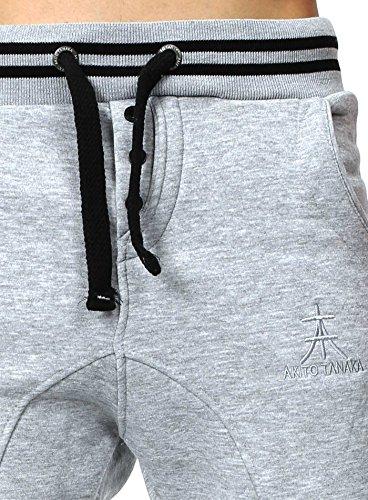Pantaloni sportivi di sport Herren della tuta Freizeithose Maschi Sweatpant Grau