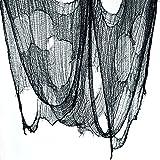 GardeningWill Pflanzsack, zweiseitig, 76.20 x 4 cm grau CREEPY HALLOWEEN-Dekoration Party Prop, TÜRFENSTER