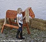 Holzpferd Voltigierpferd Holzpony Gr. L, in Mahagoni lasiert