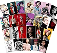 Singer Lil Peep Stickers 25PCS for Laptop and Water Bottles,Waterproof Durable Trendy Vinyl Laptop Decal Stick