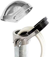 PremiumX Sat Aluminium Mastkappe für Dachsparrenhalter Mast Durchmesser 48-52 mm ALU
