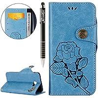Galaxy J5 Prime Hülle,Galaxy J5 Prime Ledertasche Handyhülle Brieftasche im BookStyle,SainCat Schön Retro 3D Eine... preisvergleich bei billige-tabletten.eu