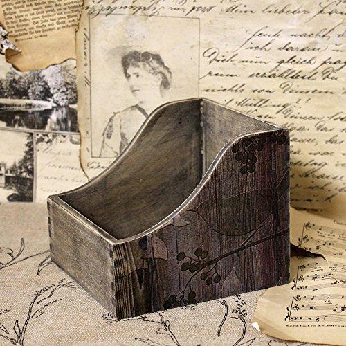 Vintage Zettelkasten 14,5x15x12,5cm Box Notizzettel Ablage Kasten Organizer