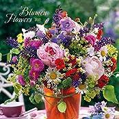 Blumen 2017 - Flowers - Broschürenkalender (30 x 60 geöffnet) - Wandplaner