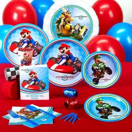 Preisvergleich Produktbild Super Mario Kart Wii Mega Geburtstags Party Set für 8 Personen