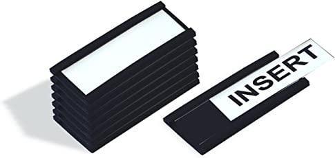 Master Vision Magnetic Data Cards, 1 X 2 Inches, Black, 25 Count (FM1310)