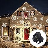 Gimify Projektor-Schnee LED Bewegung Licht Außen Wasserdicht Decoration für Weihnachten Abend Geburtstag Bar Garten weiß