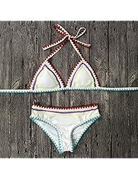 69f10806e 2018 Nuevos bañadores Mujer Sexy Bikinis Push Up bañador Halter Top Traje  de baño Acolchada Vendaje Brazilian…