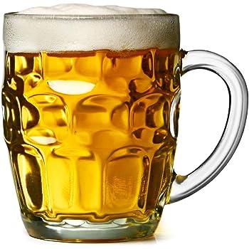 The Great British Pinte Dimple Mug–Lot de 4–Cadeau Emballé dans une boîte en verre chopes à bière, idéal comme cadeau