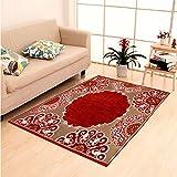 #2: Home Elite Ethnic Velvet Touch Abstract Chenille Carpet - 55