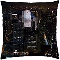 New York Midtown Skyline at night - Throw Pillow Cover Case (18
