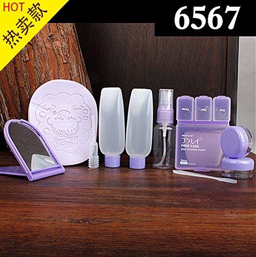 XNWP-Voyage maquillage jeux de bouteilles haut de gamme bouteille vide appuyez sur la bouteille de shampooing lotion crème d'oeil vaporisateur avec bouteille sippy-bouteille,6567