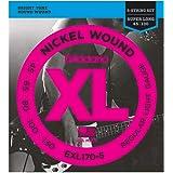 D'Addario EXL170-5 Cordes longues en nickel pour basse 5 cordes Léger 45-130