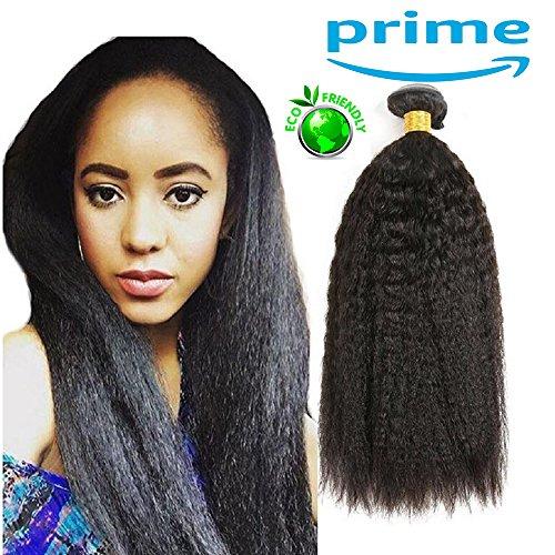 Topuhair capelli biondi extension capelli umani 100g/pcs capelli ricci yaki nero 1b color 8a grade capelli corti donna (1fascio 16inch/40cm 100g, nero)