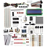 Sunfounder Project Super Starter Kit w/ 26-Pin GPIO Extension Board, GPIO Cable, H-Bridge L293D, ADXL345, DC Motor, 7-Segment, Dot Matrix Display for Raspberry Pi immagine