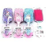 G4GIFT Cute Unicorn Theme Anti-static Hair Brush Massage Comb Shower Hair Brush Styling Tools for Girls Birthday Gift (Pack o