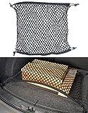 Lescars Gepäcknetz Auto: Universal-Kofferraum-Gepäcknetz, 70 x 70 cm, Dehnbar auf 105 x 105 cm (Gepäcksicherung Kofferraum)
