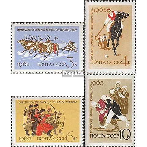 Soviet-Unione 2789-2792 (completa.Problema.) 1963 Nazionale Popolare sport
