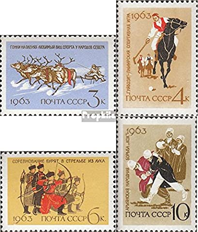 Soviet-Union 2789-2792 (complete.issue.) unmounted mint / never hinged 1963 National Popular sports (Stamps for